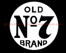 Jack Daniels Circle Old No. 7 for whiskey fans, Whiskey decal sticker, Pub, Bar