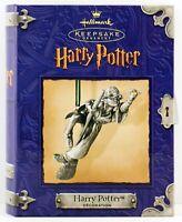 2000 HARRY POTTER NEW Hallmark Ornament Hogwarts Quidditch Broom Golden Snitch