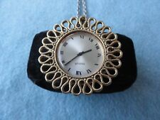 Swiss Made Manet Mechanical Wind Up Necklace Pendant Watch