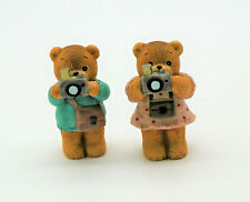 Lucy Rigg Enesco Vintage Tourist 2 Bears with Camera Figurines 1985