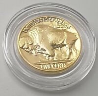 1936 US Gold Coin Buffalo Nickel United States I Red Indian Pre World War II USA