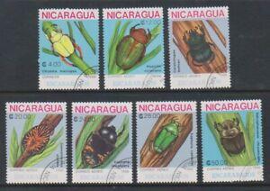 Nicaragua - 1988, Beetles set - CTO - SG 3011/17 (a)