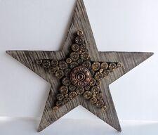 12 Gauge Shot Gun Shell Star Wood Wall Decor 12x12inches Rustic New Distressed