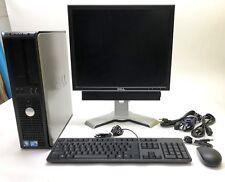 """DELL OPTIPLEX 380 DESKTOP 4GB / 250GB / WIN 10 / CORE2DUO + 19"""" DELL LCD MONITOR"""