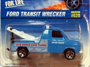FORD TRANSIT WRECKER, Hot Wheels #1997-620, Blue, 5SP wheels SINGLE YEAR RELEASE