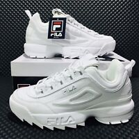 Fila Disruptor II Premium (Men's Size 8.5) Athletic Sneakers White Casual Shoes