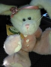 "Lady Harrington Plush Bunny Rabbit 12"" Pink Fur Body Suit by Boyds Bears"