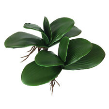 Artificial Fake Silk Green Plant Leaf Phalaenopsis Foliage Office Home Decor