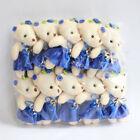10pcs/lot mini teddy bear doll wedding banquet bear and clothes plush toy