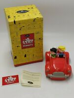 "Peanuts ""SUMMER FUN"" Snoopy Charlie Brown Lucy Car Bank 2002 Hallmark Box & COA"