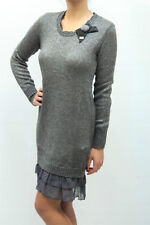 ABITO BLUGIRL DONNA DRESS ROBE ПЛАТЬЕ SUKIENKA, A3963 6374 GRIGIO MIS.44 AA 13 .