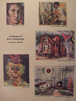 1944 Original Esquire Art WWII Era Artist Profile KARL ZERBE