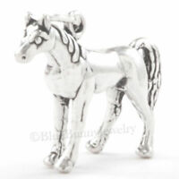 .925 Sterling Silver 3D ARABIAN HORSE Equestrian Pendant 925 Charm