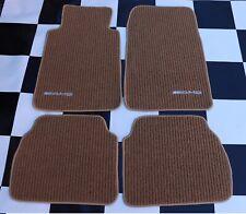 Floor Mats For Mercedes-Benz C Class W201 AMG Emblem Tan Carpets 1984-93 4PCS