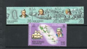 NEW HEBRIDES MNH 1974 SG192-195 BICENTENARY OF DISCOVERY