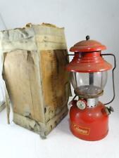 Vintage 1956 Coleman Model 200A Red Enamel Camping Lantern Gasoline Retro Old