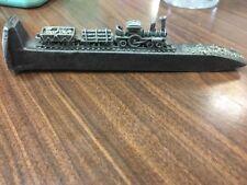 Mini Locomotive Engine Railroad Train Track on Iron Spike Nail Paperweight B28