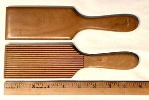 Vintage Grooved Wood Butter Paddles France (2)