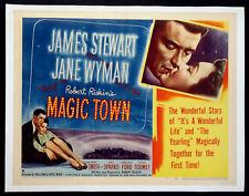 MAGIC TOWN JAMES STEWART JANE WYMAN 1947 HALF-SHEET