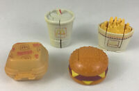 McDonalds Changeables Transformer Toy 4pc Lot Small Fries Quarter Vintage 1988