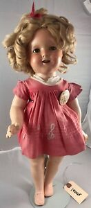 """18"""" Antique American Composition Shirley Temple Doll! Adorable! 18005"""