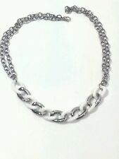 """Amello Stainless Steel necklace Pearl white ceramic 19.68 """" Free Shipping"""