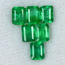 2.82 Cts Natural Top Green Emerald Cut Lot Untreated Zambia  perfect color