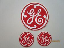 Three Red Ge Stickers