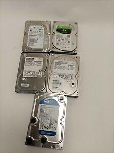 "Job Lot 5x  1TB SATA 3.5"" HDD Hard Drives Mixed Brands"