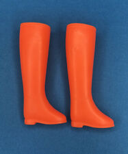 Vintage Barbie Francie Tall Orange Riding Boots Furry Go Round Made 4 Each Other