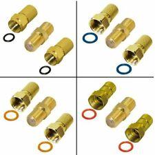 F-Stecker Twist-On Gold + F-Verbinder Gold Breite Mutter HQ 6.6mm-8.5mm V2