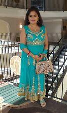 Green Indian Pakistani Anarkali Kurta Kurti Party Designer Dress with Dupatta