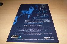 NICK DRAKE - WAY TO BLUE !!!! PUBLICITE / ADVERT !!! UK !!!