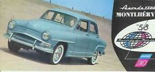 1958 SIMCA ARONDE 1300 Small Format French Brochure in English MONTLHERY ELYSEE