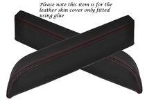 Rojo Stitch encaja Nissan 350z Fairlady 2x Puerta Apoyabrazos Cuero cubre sólo