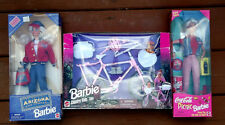 New Barbie Country Ride Bike, Coca Cola Picnic Barbie, & Arizona Jean Co. - NIB