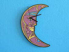 Crescent Moon Face Wall Clock