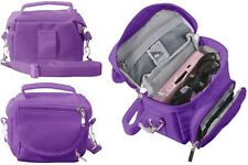 PURPLE TRAVEL BAG CARRY CASE FOR NEW 2015 NINTENDO 3DS AND 3DS XL