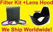 FILTER KIT+LENS HOOD 72mm fit PANASONIC AG-DVX100 DVX100B DMC-L1K DVX102 CPL UV