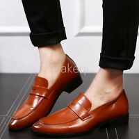 New Fashion Mens Business Dress Formal Casual Slip On Loafers Shoes British 2017