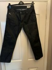 Genuine Men's Diesel DARRON Diesel Jeans 32W 26L Brand New Black Straight Fit