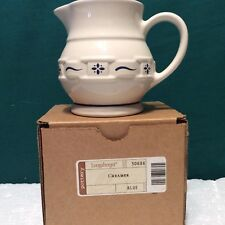 Classic Blue Creamer Pitcher Longaberger Usa New in Box Never Used 30686