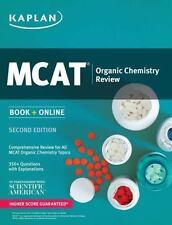Kaplan MCAT Organic Chemistry Review: Book + Online (Kaplan Test Prep)-ExLibrary