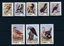 [51246] Zambia 1990 Birds Vögel Oiseaux Ucelli  8 Values MNH