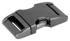 5 - 5/8 Inch Gunmetal Aluminum Side Release Buckles