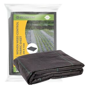 BLOSTM Weed Control Fabric Sheet Heavy Duty Weed Membrane Ground Cover 2m x 10m