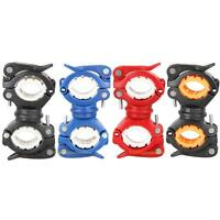 360° Mountain Bike LED Flashlight Mount Holder For Bicycle Bike Torch Clip Clamp