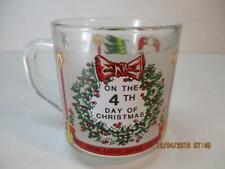 Luminarc ON THE 4TH DAY OF CHRISTMAS Twelve Days of Christmas Glass Coffee Cup