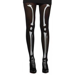 Skeleton Tights Adult Halloween Costume Hosiery Dia de Los Muertos
