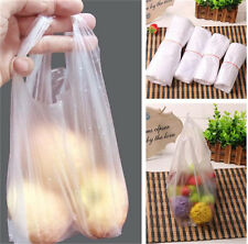100pcs Plastic T-Shirt Retail Shopping Supermarket Bags Handles Packaging Retail